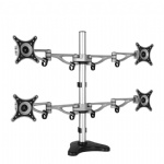 Aluminum Desktop Clamping Four Display 10-24 inch Screen Monitor Holder Full Motion Quad Monitor Mount Arm Bracket