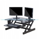 EasyUp Height Adjustable Sit Stand Desk Riser Foldable Laptop Desk Stand With Keyboard Tray